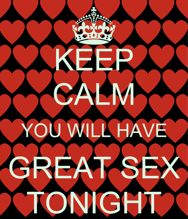 great sex tonight