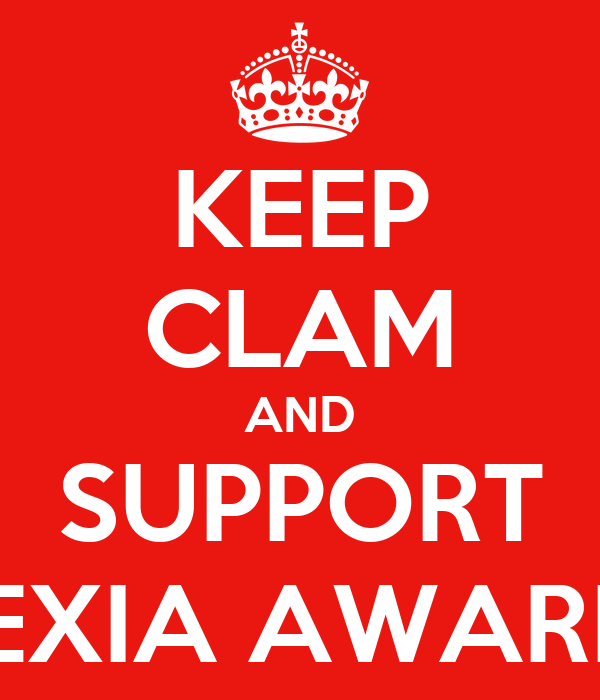 Dyslexia Awareness Silvers: KEEP CLAM AND SUPPORT DYSLEXIA AWARENESS Poster