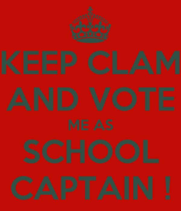 how to make a good speech for school captain