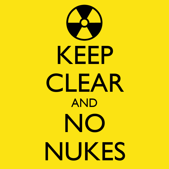 KEEP CLEAR AND NO NUKES Poster   Chiachi