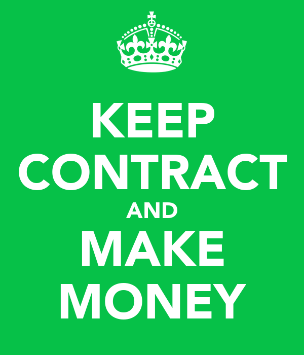 Making Money Icons Keep Contract And Make Money