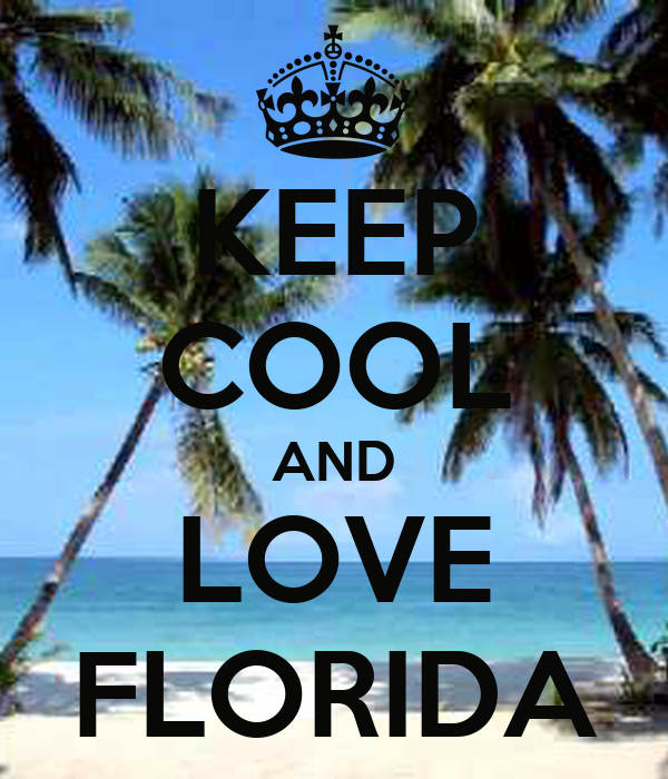 keep cool and love florida poster analyn keep calm o matic