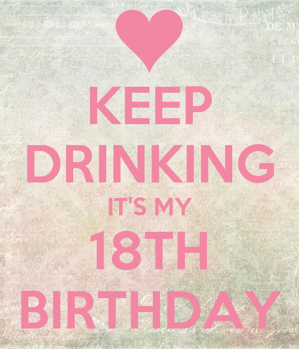 KEEP DRINKING IT'S MY 18TH BIRTHDAY Poster