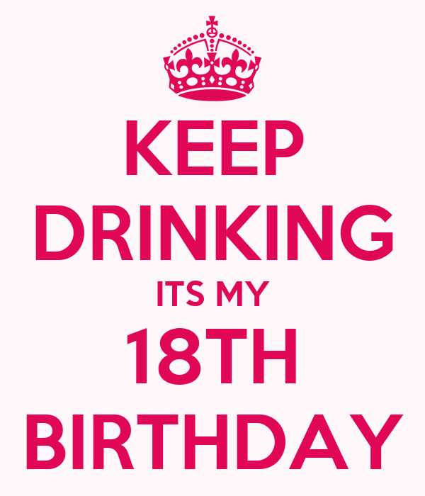 KEEP DRINKING ITS MY 18TH BIRTHDAY Poster