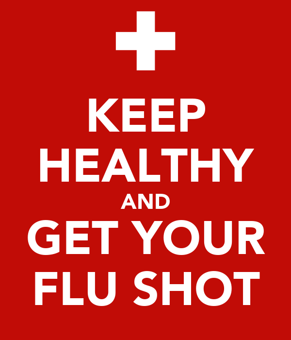 keep healthy and get your flu shot poster pediaplace
