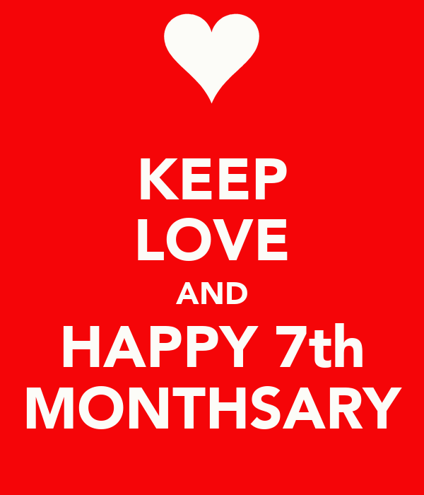 KEEP LOVE AND HAPPY 7th MONTHSARY Poster
