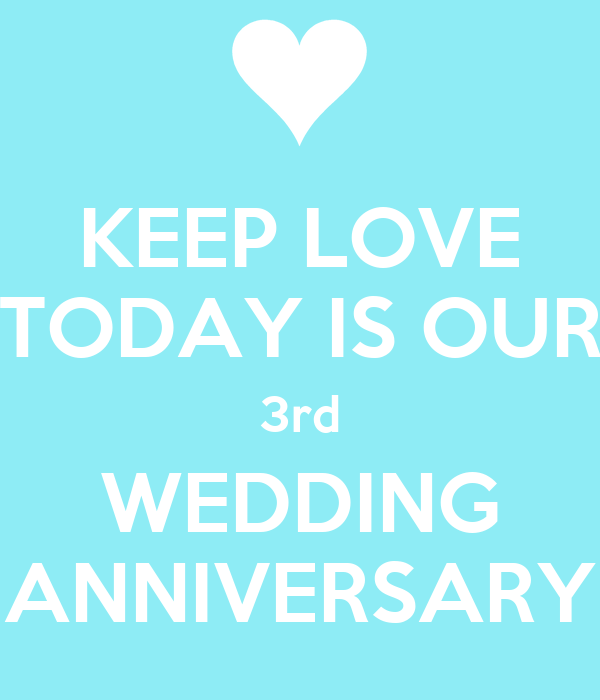 Keep love today is our rd wedding anniversary poster hv