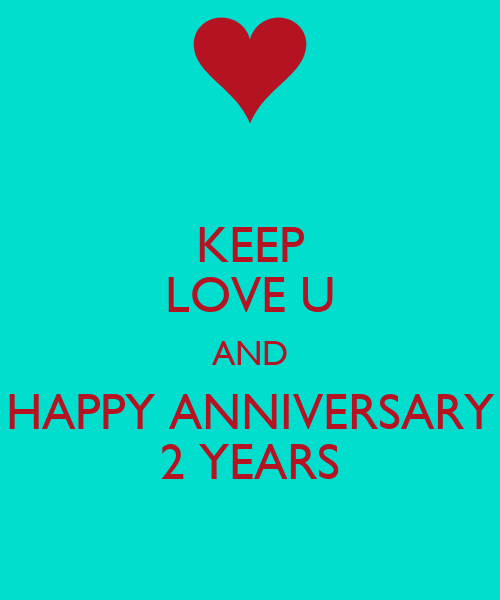 Keep love u and happy anniversary years poster thuong