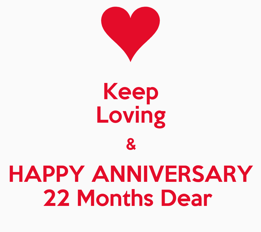 Keep loving happy anniversary months dear poster
