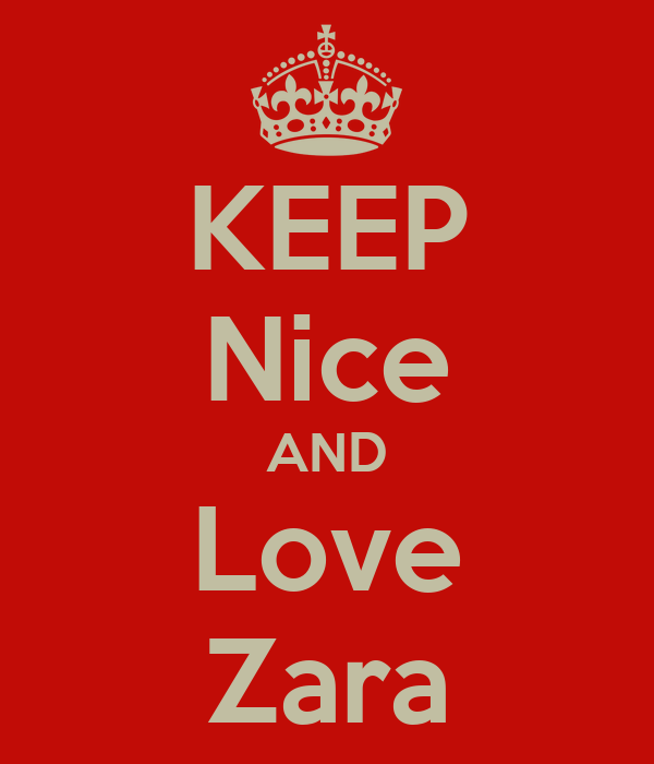 keep nice and love zara poster jack keep calm o matic. Black Bedroom Furniture Sets. Home Design Ideas