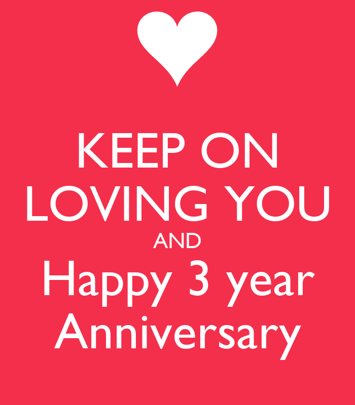 KEEP ON LOVING YOU AND Happy 3 Year Anniversary Poster