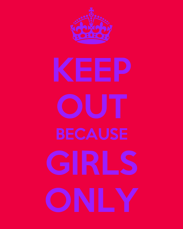 keep out because girls only poster emily thomas keep