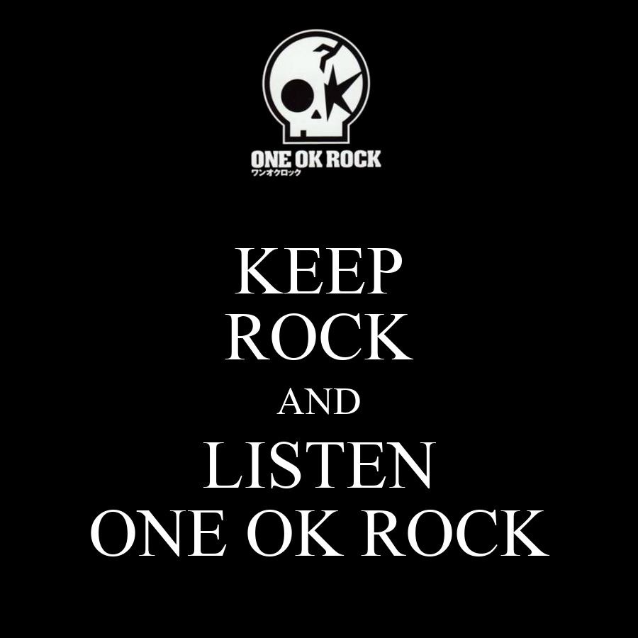 Logos de One ok Rock Keep Rock And Listen One ok