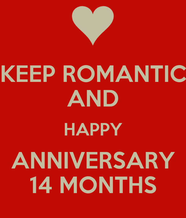 Keep romantic and happy anniversary months poster