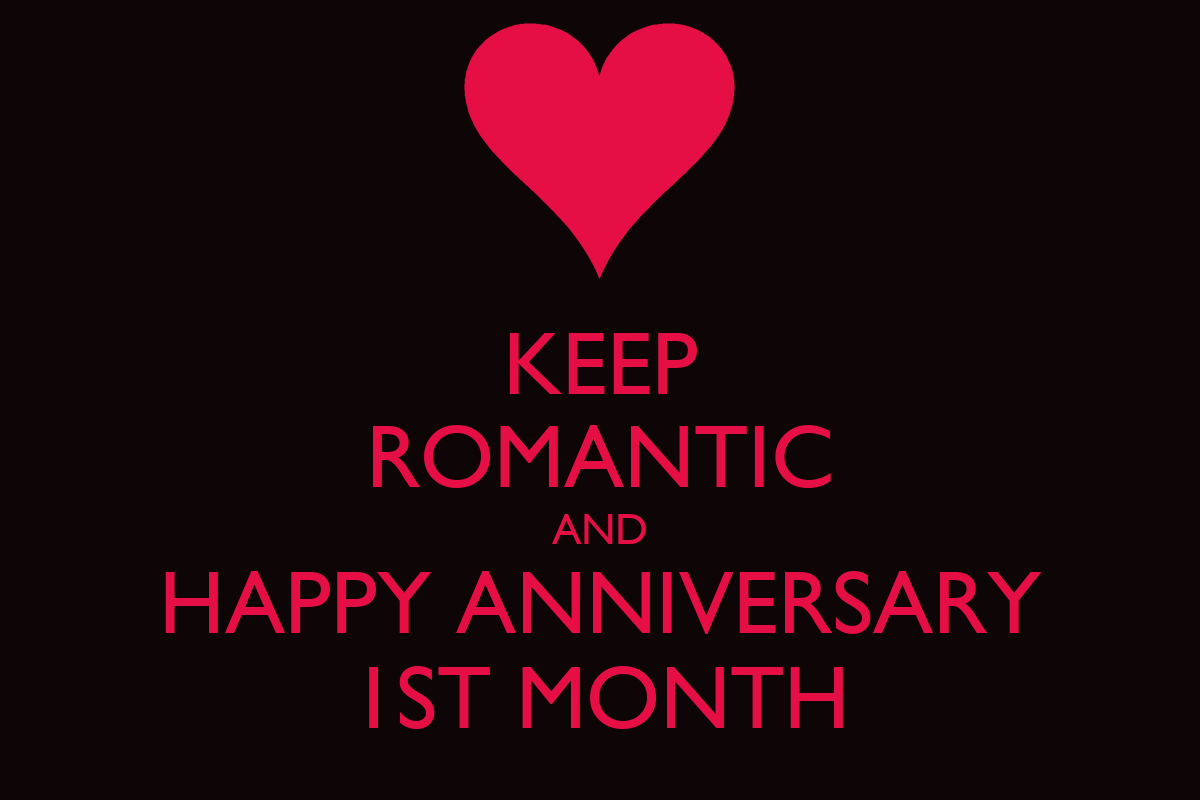 Keep romantic and happy anniversary st month calm