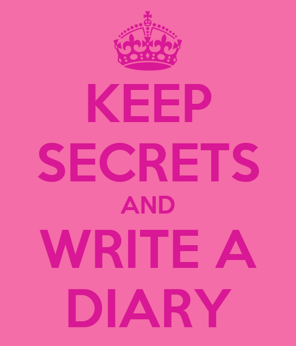 How to write secrets in your diary