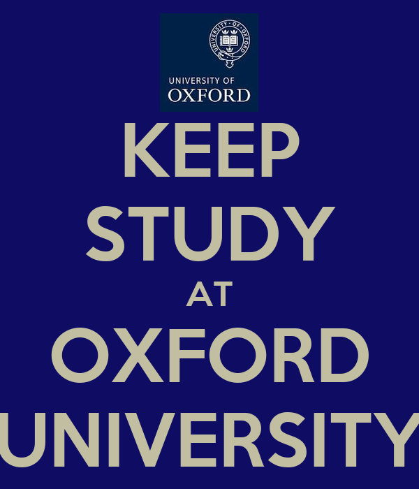 how to study in oxford university