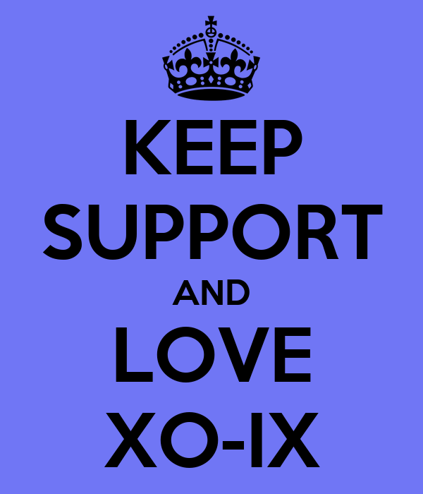 KEEP SUPPORT AND LOVE XO IX KEEP CALM AND CARRY ON Image Generator