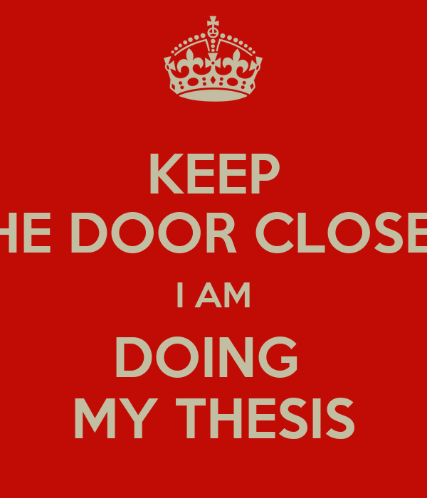 Closed thesis