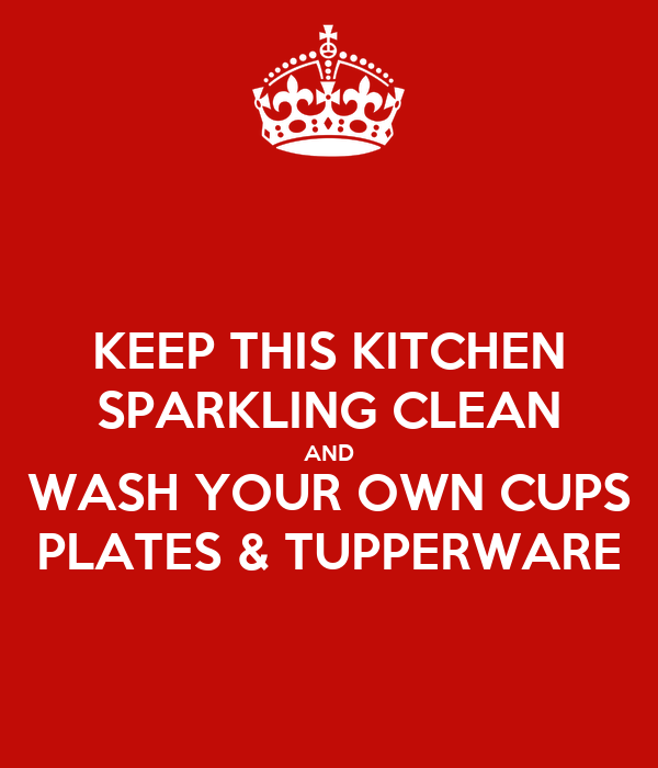 Keep this kitchen sparkling clean and wash your own cups for How to keep the kitchen clean