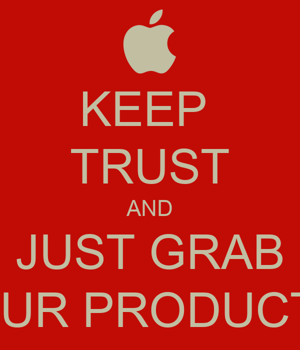 how to keep trust in product or service