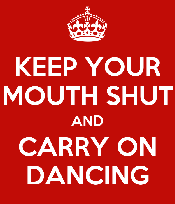how to keep your mouth shut at work