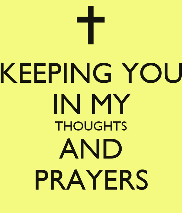 Keeping you in my thoughts and prayers poster bonika keep calm o