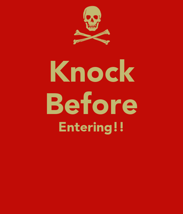 funny knock before entering signs printable | just b.CAUSE