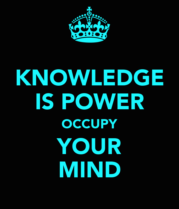 KNOWLEDGE IS POWER OCCUPY YOUR MIND Poster | ALIEN BELLY ...