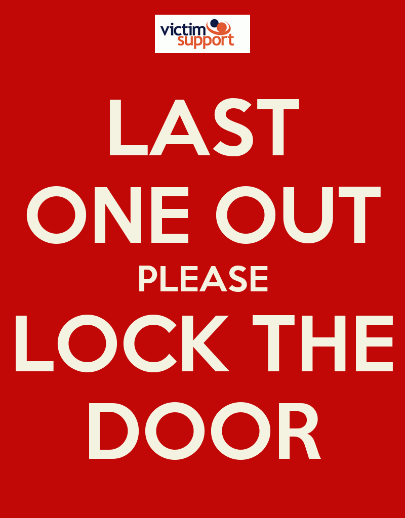 Last One Out Please Lock The Door Poster Pp Keep Calm
