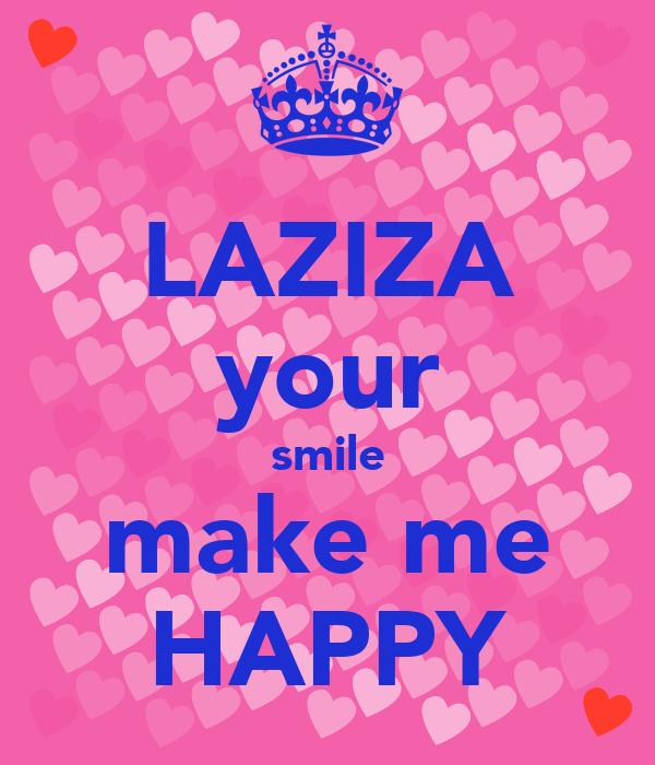 Laziza Your Smile Make Me Happy Poster Ulugbek Keep Calm O Matic