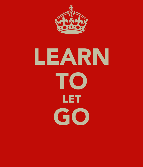 how to learn to let go of objects