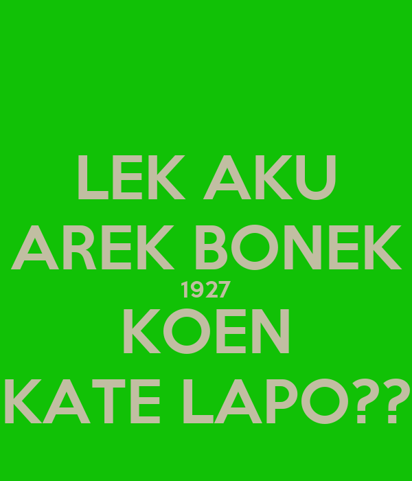 Logo Bonek 1927 Lek Aku Arek Bonek 1927 Koen