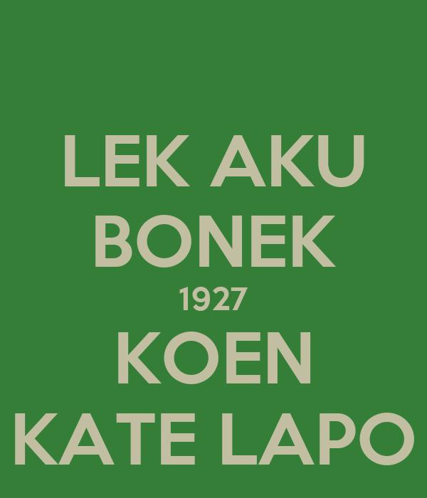 Logo Bonek 1927 Lek Aku Bonek 1927 Koen Kate
