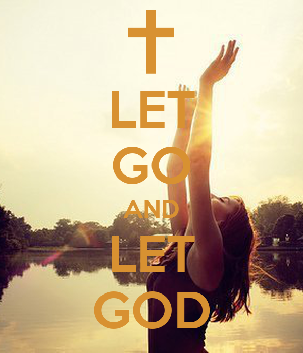 Let Go And Let God Poster Sasha Harper Keep Calm O Matic