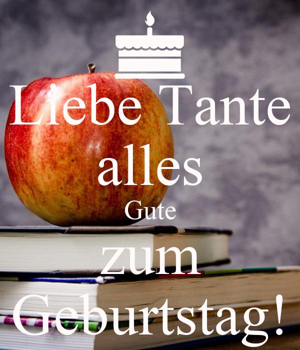 Liebe Tante Alles Gute Zum Geburtstag Poster Koki Keep Calm O Matic