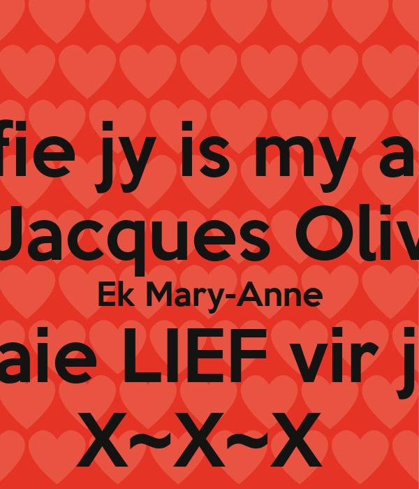 Jy is my liefie dating