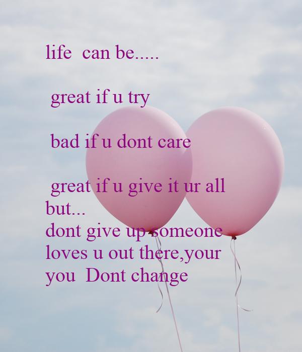 U dont care