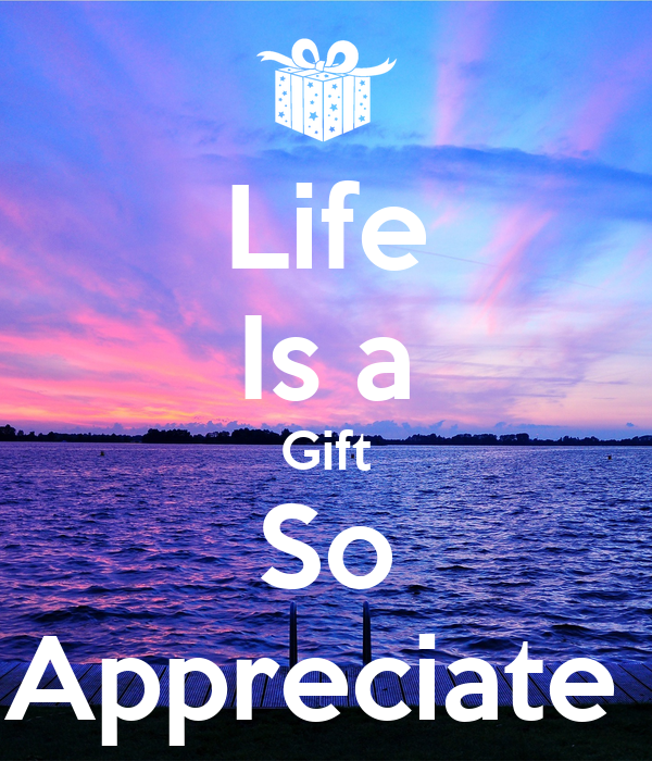 The need to appreciate the gift of life