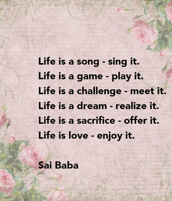 Life is a challenge meet it essay
