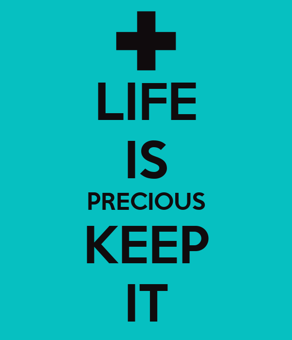 life is precious All life is precious quotes - 1 there comes a time in life when you have to let go of all the pointless drama and the people who create it, and surround yourself with people who make you laugh so hard that you forget the bad and focus solely on the good after all, life is too short to be.