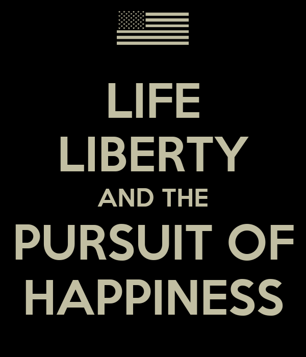 Quotes About The Pursuit Of Happiness: LIFE LIBERTY AND THE PURSUIT OF HAPPINESS Poster