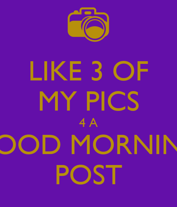 Goodmorning Post Images