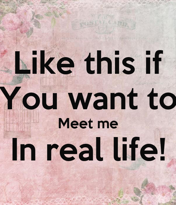 about me and who like to meet