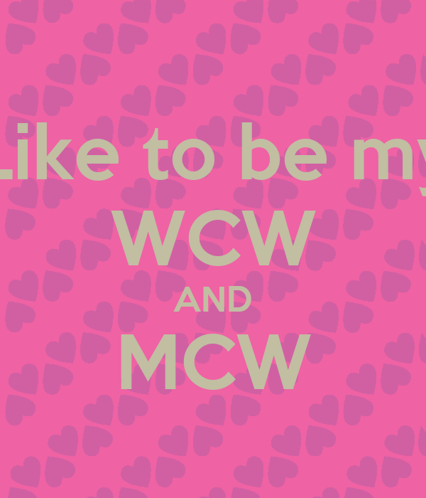 Who Wants To Be My Wcw Instagram