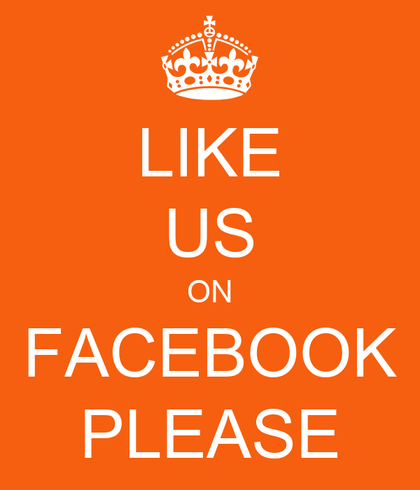 like us on facebook please poster