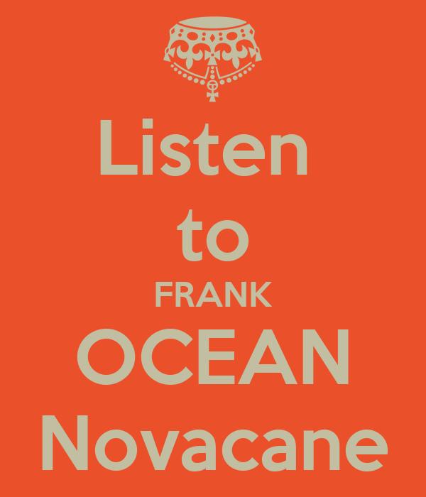 Listen to FRANK...