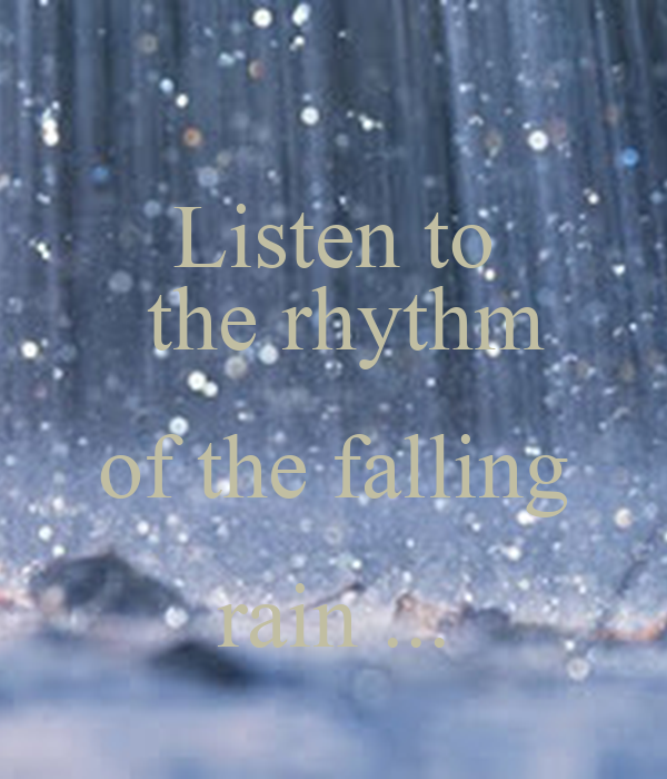 listen to the rhythm of the falling rain poster sahar keep