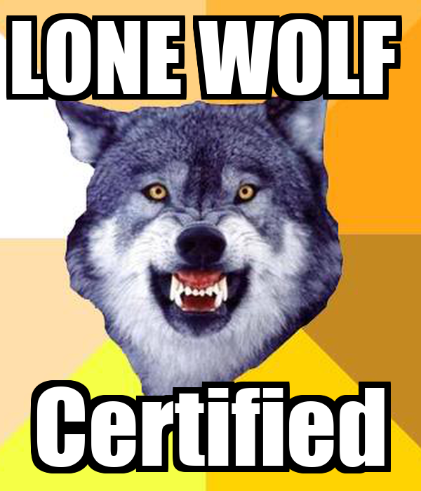 LONE WOLF Certified Poster | JO JO | Keep Calm-o-Matic