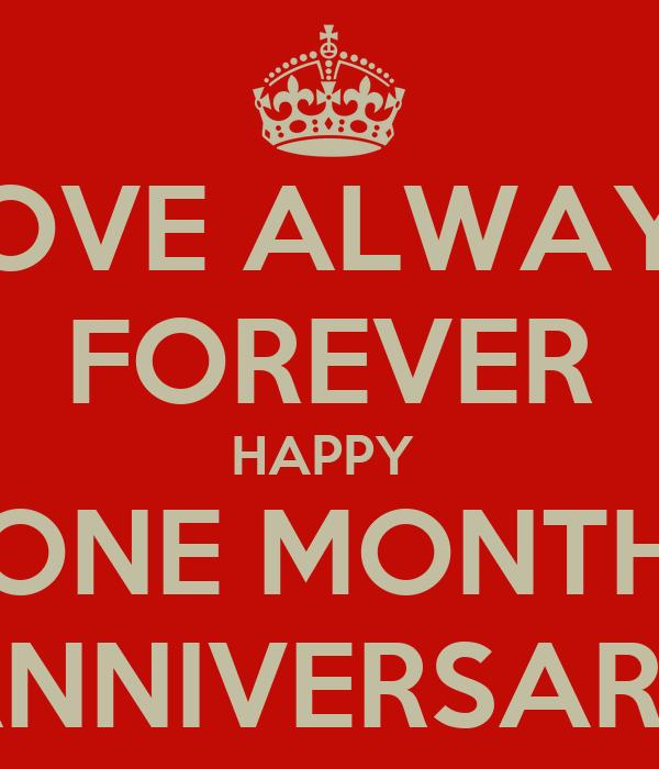one month anniversary quotes happy quotesgram